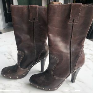 Michael Kors moto boots with studs